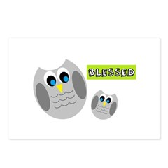 Blessed with cute owls Postcards (Package of 8)