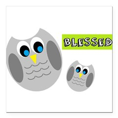 Blessed with cute owls Square Car Magnet 3