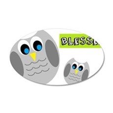 Blessed with cute owls Wall Decal