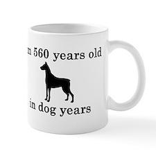 80 birthday dog years doberman 2 Mugs