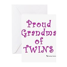 Proud Grandma of Twins Greeting Cards (Package of