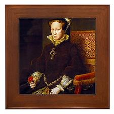 Queen Mary I. Framed Tile