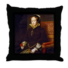 Queen Mary I. Throw Pillow