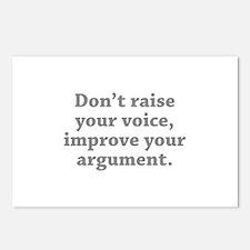 Don't Raise Your Voice, Improve Your Argument Post