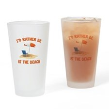 I'd Rather Be At The Beach Drinking Glass