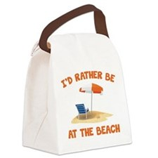 I'd Rather Be At The Beach Canvas Lunch Bag