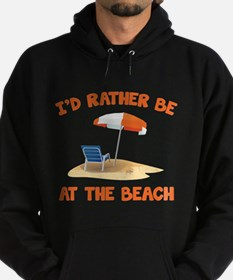 I'd Rather Be At The Beach Hoodie (dark)