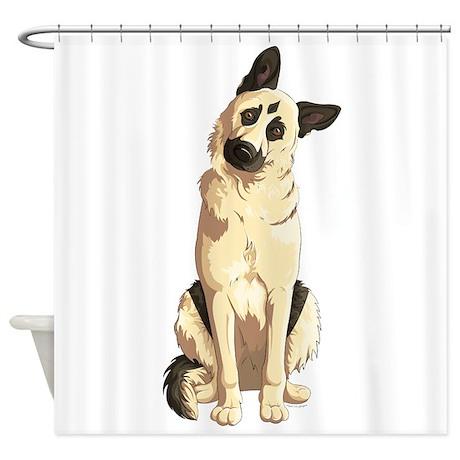 german shepherd shower curtain by agpaintedbrushtshirts. Black Bedroom Furniture Sets. Home Design Ideas
