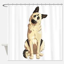 german shepherd art shower curtains german shepherd art fabric shower curtain liner. Black Bedroom Furniture Sets. Home Design Ideas