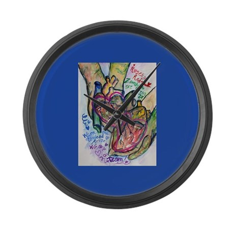 Zombie Love Poem Large Wall Clock