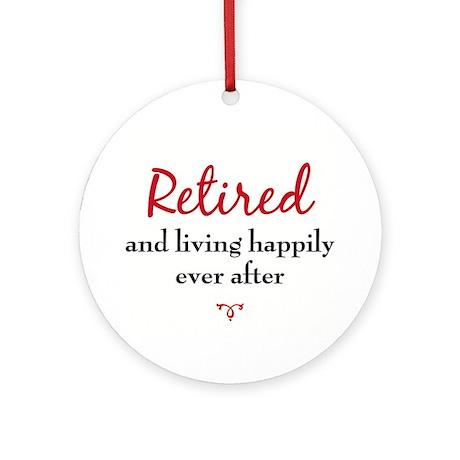 Retirement Ornament (Round)