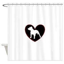Pitbull Love Shower Curtain