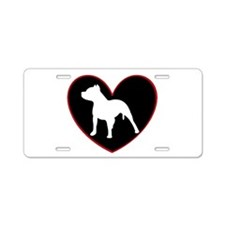 Pitbull Love Aluminum License Plate