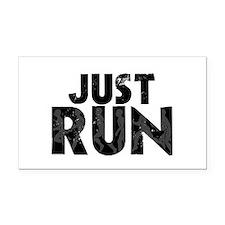 Just Run Rectangle Car Magnet