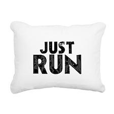 Just Run Rectangular Canvas Pillow