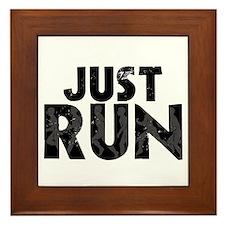 Just Run Framed Tile