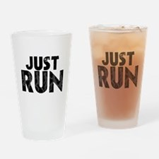 Just Run Drinking Glass