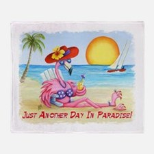 Just Another Day In... Throw Blanket