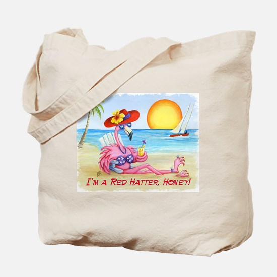 Im A Red Hatter, Honey! Tote Bag