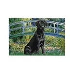 Bridge & Black Lab Rectangle Magnet