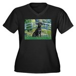 Bridge & Black Lab Women's Plus Size V-Neck Dark T
