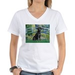 Bridge & Black Lab Women's V-Neck T-Shirt