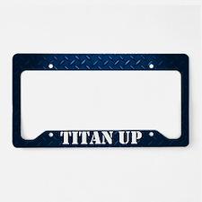 Titan Up Blue Diamond Plate License Plate Holder