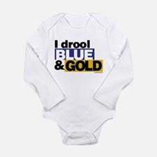 I Drool Blue and Gold Body Suit