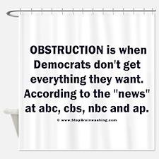 Obstruction my ass! Shower Curtain