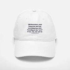 Obstruction my ass! Baseball Baseball Cap