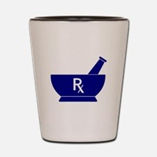 Mortar and Pestle Rx Shot Glass
