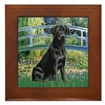 Bridge & Black Lab Framed Tile