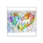 Community Hearts Color Square Sticker 3