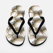 Baseball, Softballl Pattern 2 Flip Flops