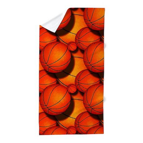 Basketball Pattern 1 Beach Towel