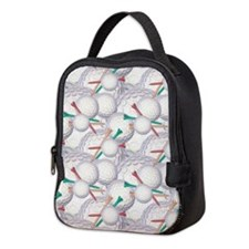 Golf Ball Pattern 2 Neoprene Lunch Bag