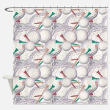 Golf Ball Pattern 3 Shower Curtain