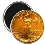 Gold Liberty on Magnet