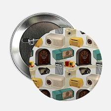"""Vintage Radio Pattern 3 2.25"""" Button (10 pack)"""
