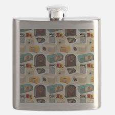 Vintage Radio Pattern 3 Flask