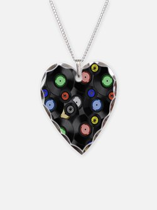 Vinyl Records Pattern 3 Necklace