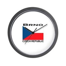 Brno, Czech Republic Wall Clock