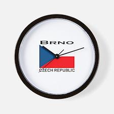 Brno, Czech Republic Wall Clock