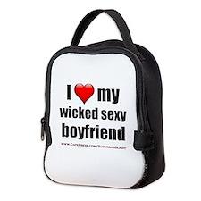 """Love My Wicked Sexy Boyfriend"" Neoprene Lunch Bag"