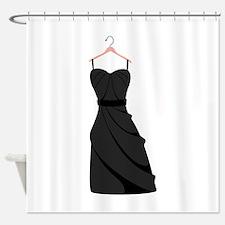 Classy Black Dress Shower Curtain