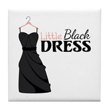 Little Black DRESS Tile Coaster