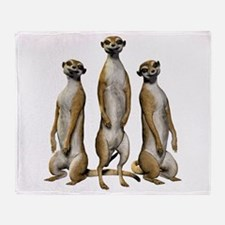 Meerkat Trio Throw Blanket