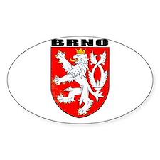 Brno, Czech Republic Oval Decal