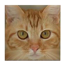 Unique Orange cats Tile Coaster
