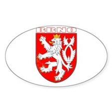 Brno, Czech Republic Oval Decal